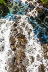 The flow of the waterfall