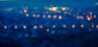 city blurring lights abstract circular bokeh blue background wit - 71108280