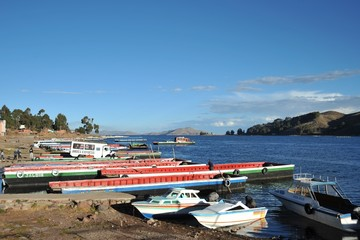 Ferry service on lake Titicaca