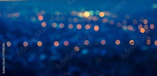 Zdjęcia na płótnie, fototapety, obrazy : city blurring lights abstract circular bokeh blue background wit