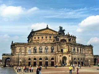 The Semper Opera in the old town of Dresden in Germany
