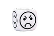 single emoticon dice with angry expression sketch