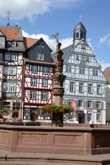 Marktplatz und Rathaus in Butzbach