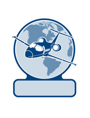 plane  symbol of air transportation