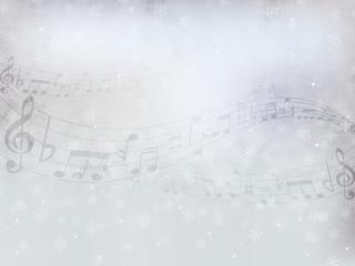 音譜 楽譜 雪