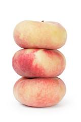 three flat fig pears
