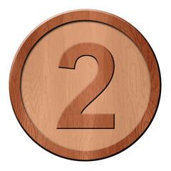Jeton en bois : 2