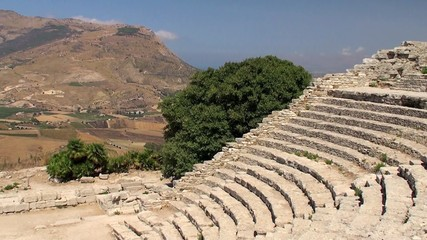 Greek theatre of Segesta. Sicily