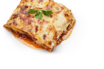 hot freshly made home lasagna