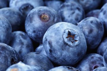 fresh ripe blueberries closeup