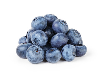 big ripe blueberries