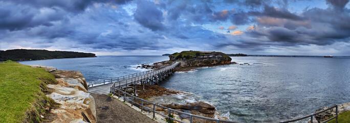 Ocean Bare Sunrise Panorama