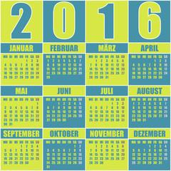 Kalender 2016 Deutsch