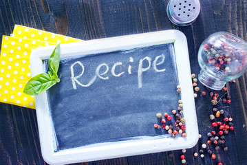 board for recipe