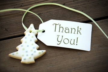 Christmas Cookie with Thank You