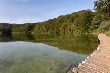 Calme des lacs supérieurs de Plitvice