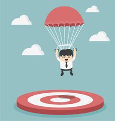 Businessman focused on a target