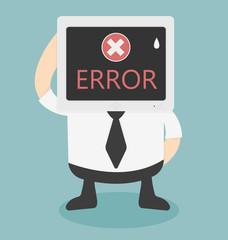error message on computer