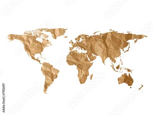 World map paper texture - 71112697