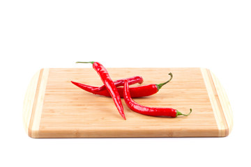 Bunch of red chili peppers.