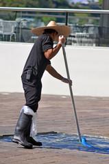Swimming pool service technician