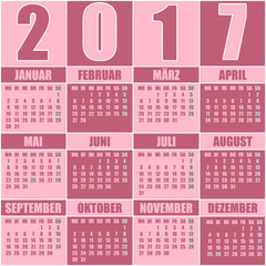 Kalender 2017 deutsch