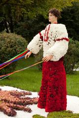"Flower Arrangement ""Ukrainian Cossack with ribbons"""