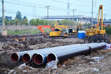 Building construction Site at Ayutthaya Thailand