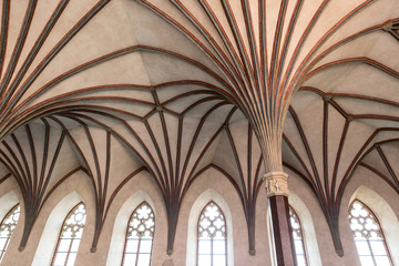 Gothic hall in Malbork castle