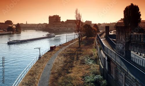 Seine et Marne en banlieue de Paris