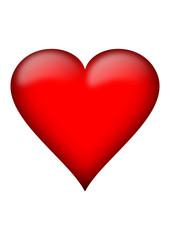 Coeur avec reflet
