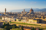 Sunset view of Florence and Duomo. Italy