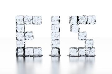 Eiswürfel Schrift EIS - neutral weiß
