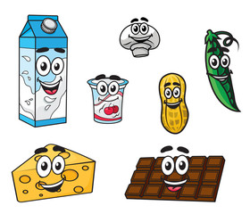 Set of food characters