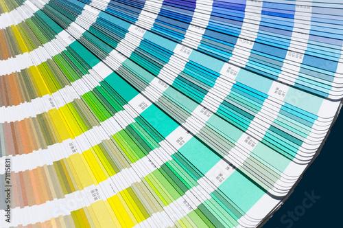 canvas print picture Farbfächer farben mischen drucken