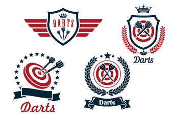 Darts heraldry emblems