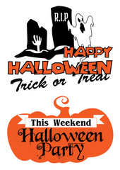 Halloween party poster and banner