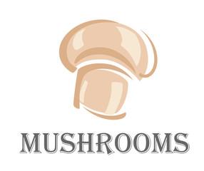 Fresh forest mushroom symbol