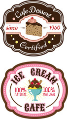 Chocolate pie and ice cream emblems