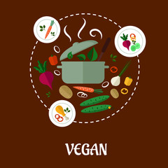 Vegan flat infographic design