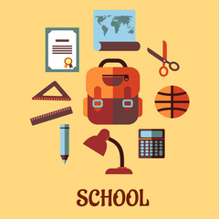 Infographic school education in flat design