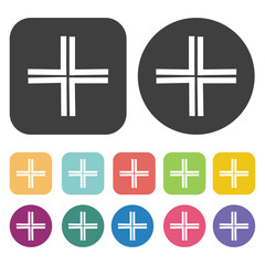 Adjust size symbol icon. Mouse cusor sign icons set. Round and r