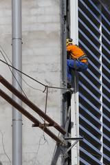Ouvrier travaillant sur un chantier