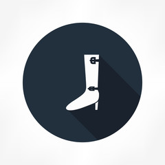 high heel boot icon