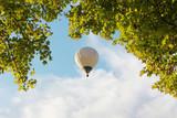 Heißluftballon und Baumkrone
