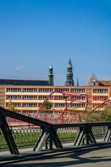 Paradiesbrücke Blick Dom Zwickau