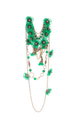 Beautiful handmade green necklace.