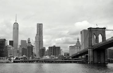 New-York overview Brooklyn Bridge
