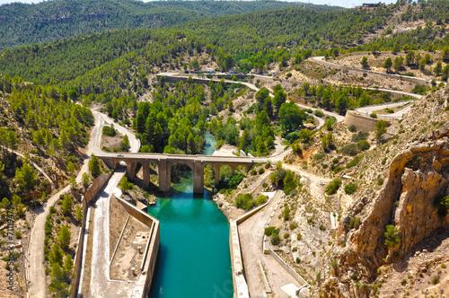 Embalse de Contreras, río Júcar, antigua Nacional III