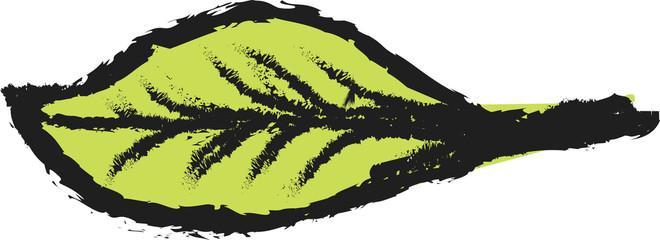 color leaf tree simple doodle charcoal